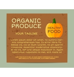 Organic farm corporate identity design with vector image vector image