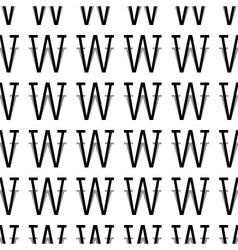 Pattern letter w vector