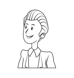 portrait male business man cartoon work people vector image