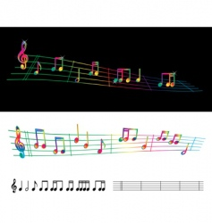 Rainbow sheet music vector