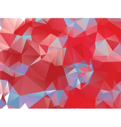 Red and Blue Polygonal Background vector image