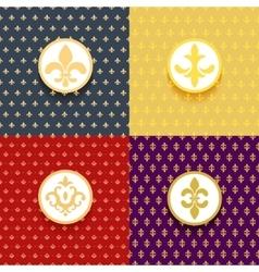 Royal patterns set vector image vector image