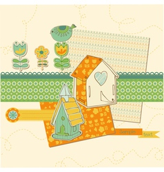 scrapbook design elements vector image vector image
