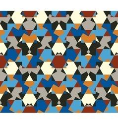 Seamless pattern abstract honeycomb mosaic vector