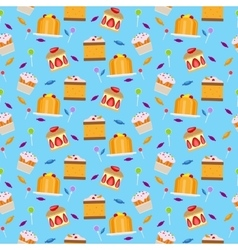 Sweets and candies seamless pattern vector image