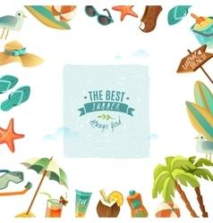The best summer poster vector
