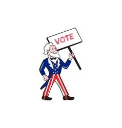 Uncle sam placard vote standing cartoon vector