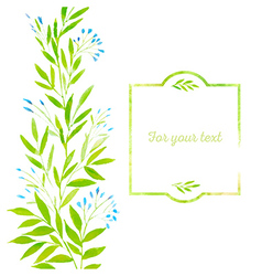 Watercolor spring leaves vector image vector image