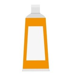 Yellow toothpaste icon vector