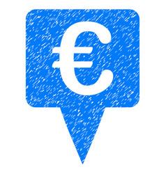 Euro map pointer grunge icon vector