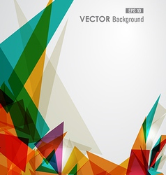 Colorful geometric transparency vector