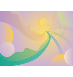 Abstract curvy background vector image