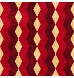 Red beige rhombus grunge background vector image