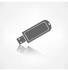 Usb flash drivo web icon vector image
