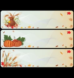 Set of autumnal banners vector