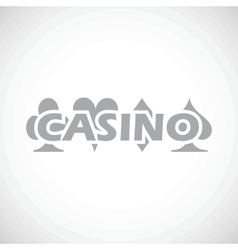 Casino black icon vector
