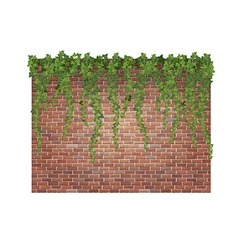 Brick wall and ivy vector