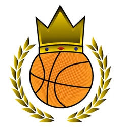 King basket symbol vector