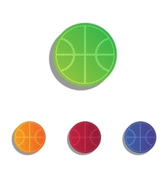 Basketball ball sign  colorfull vector