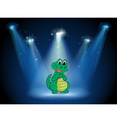 A young crocodile at the stage with spotlights vector image
