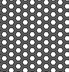 Abstract geometric seamless pattern Hexagon vector image vector image