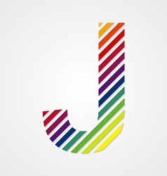 Alphabet letter j vector
