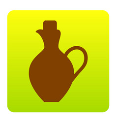 amphora sign brown icon at vector image vector image
