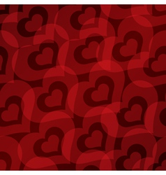 Background with hearts seamless pattern vector image vector image