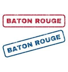 Baton rouge rubber stamps vector