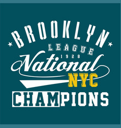 Brooklyn league national vector
