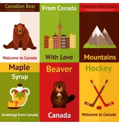 Canada mini poster set vector