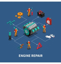 Car Repair Auto Center Isometric Composition vector image vector image