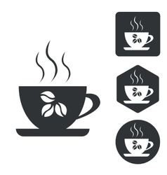 Coffee cup icon set monochrome vector image