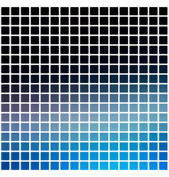 Deep and pale blue rounded mosaic background over vector