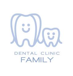 Family dental clinic logo symbol vector