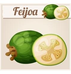 Feijoa fruit Cartoon icon vector image vector image