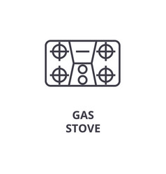 gas stove line icon outline sign linear symbol vector image