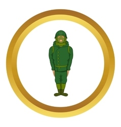 Green military camouflage uniform icon vector