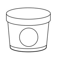 ice cream bottle vector image vector image