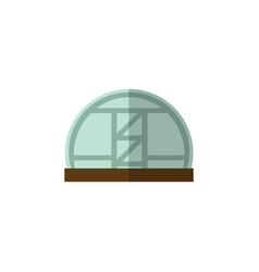 Isolated greenhouse flat icon hothouse vector
