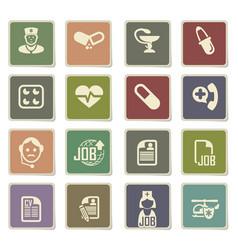 Job search icon set vector