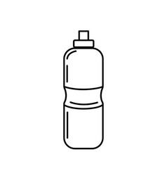 Line bottle of water to reshness in the gym vector