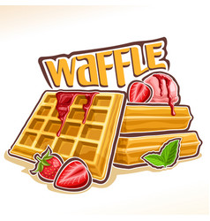 Logo for belgian waffle vector