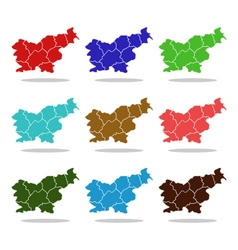 Map slovenia vector