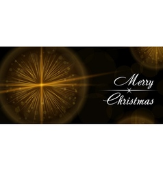 Merry christmas happy new year celebration card vector