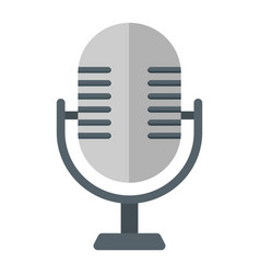 microphone flat icon studio and sound vector image