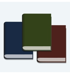 modern book on white background vector image vector image