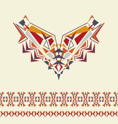 Neckline and borders design for fashion ethnic vector