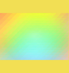 Orange yellow green rows of triangles background vector