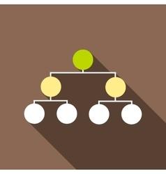 Organization chart infographic icon cartoon style vector
